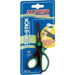 Foarfeca copiii, 13cm, cu rubber grip, in blister, ALPINO Stop Stick