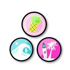 Insigne, 3buc/set, Roller NIKIDOM - Aloha