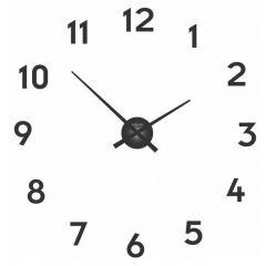 """Ceas de perete, D-48 cm x 3 cm, aluminiu, NeXtime - """"Small Hands"""", negru"""
