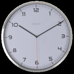 """Ceas de perete, D-48 cm x 4,2 cm, aluminiu, NeXtime - """"Company"""", alb"""