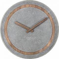 Ceas de perete, D-39,5 cm, polirasina/lemn, NeXtime - gri