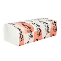 Servetele Z hartie alba, 23x25cm, 2 straturi, 150buc/pachet, 20pachete/cutie, Office Products