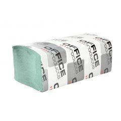 Servetele Z hartie reciclata verde, 23x23cm, 1 strat, 200buc/pachet, 20pachete/cutie, Office Product