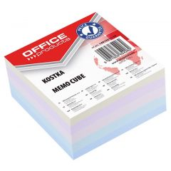 Cub hartie 85x85x40mm, Office Products - hartie culori pastel asortate