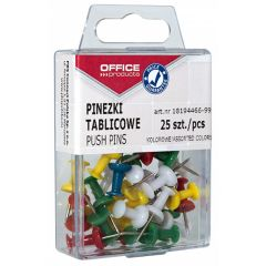 Pioneze panou pluta,  25 buc/cutie, Office Products