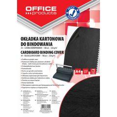 Coperta carton imitatie piele 250g/mp, A4, 100/top Office Products - negru