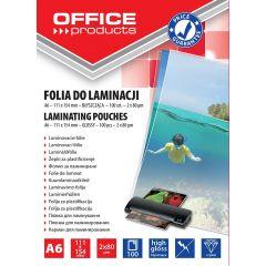 Folie pentru laminare,    A6  80 microni 100buc/top Office Products
