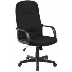 Scaun de birou, brate plastic, rotile, stofa, Office Products Malta - negru