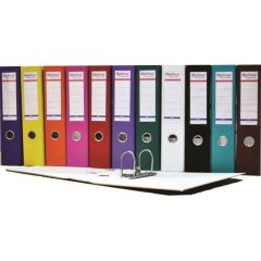 Biblioraft A4, plastifiat PP/paper, margine metalica, 50 mm, Optima Basic - bleumarin