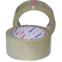 Banda adeziva 72mm x  66 y, 38 microni, Optima - transparent
