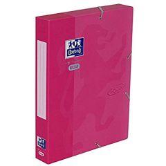 Mapa carton cu elastic, 45mm latime, OXFORD School Touch - roz