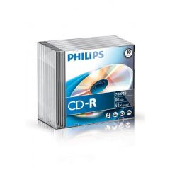 CD-R 700MB-80min  Slimcase, 52x, PHILIPS