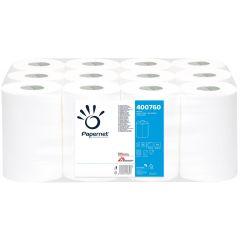 Prosop derulare centrala alb portionat, 2 straturi, 76 m, 12buc/bax, Papernet