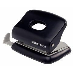 Perforator plastic Rapid FC20, 20 de coli, cutie, negru