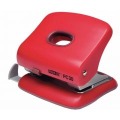 Perforator plastic Rapid FC30, 30 de coli, cutie, rosu