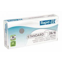 Capse Rapid Standard, 26/6, 2-20 coli, 5000 buc/cutie