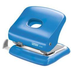 Perforator plastic Rapid FC30, 30 de coli, cutie, albastru deschis