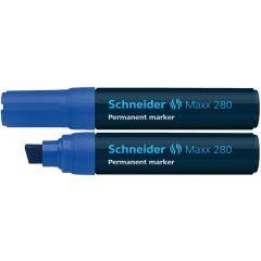 Permanent marker SCHNEIDER Maxx 280, varf tesit 4+12mm - albastru