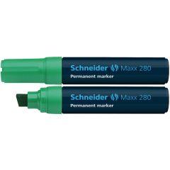 Permanent marker SCHNEIDER Maxx 280, varf tesit 4+12mm - verde
