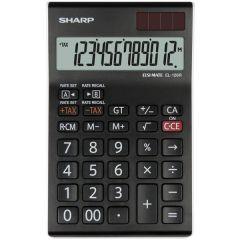 Calculator de birou, 12 digits, 155 x  97 x 12 mm, dual power, SHARP EL-126RWH - negru/alb