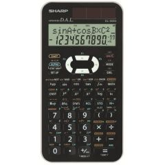 Calculator stiintific, 10 digits, 470 functiuni, 161x80x15 mm, dual power, SHARP EL-506XBWH - alb