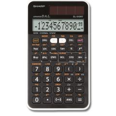 Calculator stiintific, 12 digits, 273 functiuni, 144x75x10 mm, dual power, SHARP EL-510RT - negru