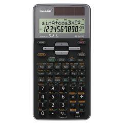 Calculator stiintific, 10 digits, 400+ functiuni, 161x80x15 mm, dual power, SHARP EL-520TGGY - gri