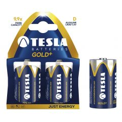 Baterii super alkaline R20, 2 buc/set, Tesla Gold - A1099137024