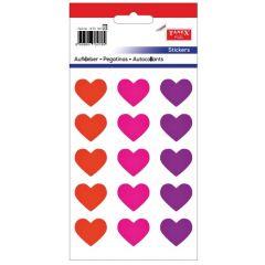 Stickere decorative, 15 buc/fila, 2 file/set, TANEX Kids - inimi