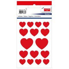 Stickere decorative, 16 buc/fila, 2 file/set, TANEX Kids - inimi
