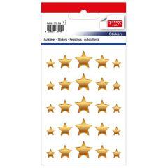 Stickere decorative, 20 buc/fila, 2 file/set, TANEX Kids - stelute diverse marimi - aurii