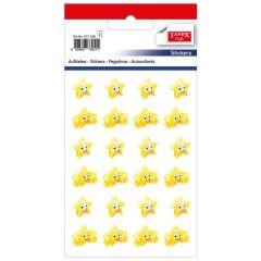 Stickere decorative, 24 buc/fila, 2 file/set, TANEX Kids - stelute cu chip - galbene