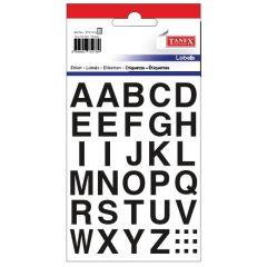 Etichete cu litere, A-Z, 15 x 15 mm, 72buc/set, TANEX - bold