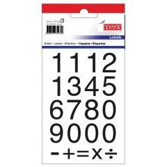 Etichete cu cifre + semne matematice, 20 x 20 mm, 40buc/set, TANEX