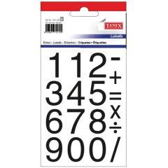 Etichete cu cifre + semne matematice, 25 x 25 mm, 36buc/set, TANEX