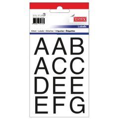 Etichete cu litere, A-Z, 25 x 25 mm, 35buc/set, TANEX - bold