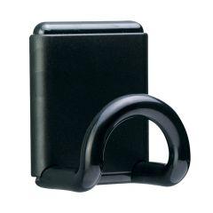 Agatatoare metalica pentru haine, fixare cu magnet, UNILUX Fil - neagra