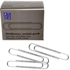 Agrafe nichelate 77 mm, ondulate, 100/cutie, ALCO