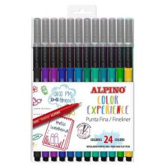 Fineliner, varf 0.4mm, 24culori/set, ALPINO Color Experience