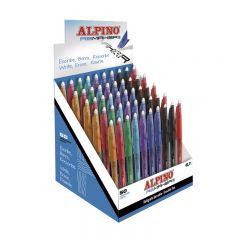 Display pixuri erasable, 0.7mm, 50 buc./display, ALPINO ReMaker II Soft - 8 culori asortate