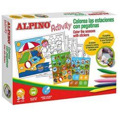 Cutie cu articole creative pentru copii, ALPINO Activity Stickers - Season of the year