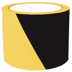 Banda pentru avertizare 75mm x 100m, 30 microni, Office Products Safety Warning - negru/galben