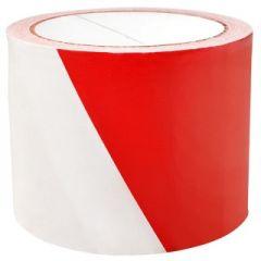 Banda pentru avertizare 75mm x 100m, 30 microni, Office Products Safety Warning - rosu/alb