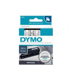 Banda Dymo D1 ( 9 mm x 7 m ) text:negru/ fond:alb (40913)