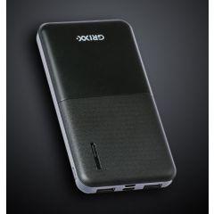 Baterie externa GRIXX Optimum - 10000mAh, cu porturi Micro USB si USB-C - neagra