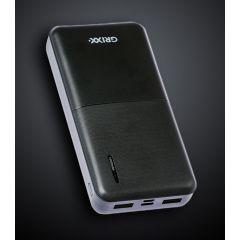 Baterie externa GRIXX Optimum - 15000mAh, cu porturi Micro USB si USB-C - neagra