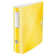 Biblioraft Leitz 180 Active WOW, polyfoam, A4, 82 mm, galben