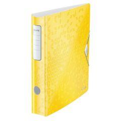 Biblioraft LEITZ 180 Active WOW, polyfoam, A4, 65 mm, galben