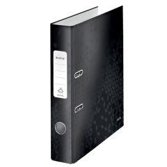 Biblioraft LEITZ 180 WOW, carton laminat, A4, 52 mm, negru