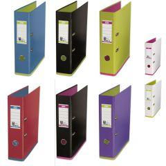 Biblioraft A4, plastifiat PP/PP, 80 mm, OXFORD MyColour - alb/violet
